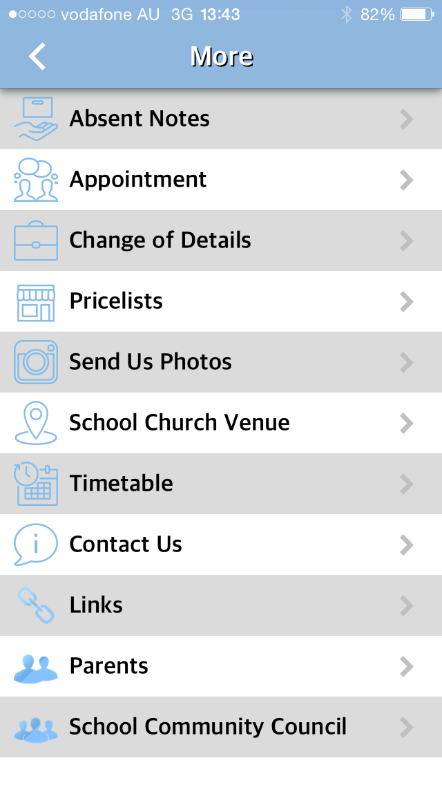 School app screenshot